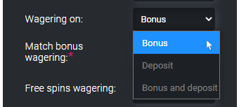 wagering condition